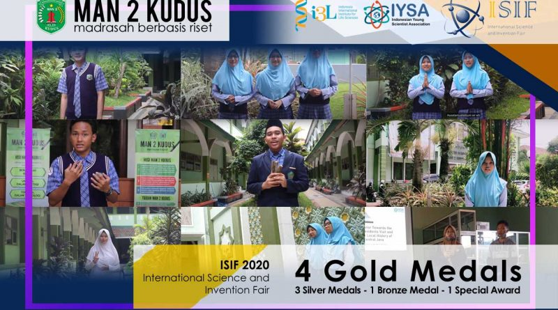 MAN 2 Kudus Raih 8 Medali dalam International Science and Invention Fair 2020