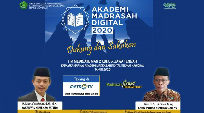 "Tim ""Medigate"" MAN 2 Kudus Masuk Grand Final Akademi Madrasah Digital 2020"