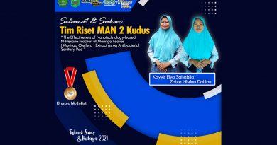 Ciptakan Pembalut Wanita Antibakteri, MAN 2Kudus Raih Bronze Medalist dalam Ajang ISPO 2021